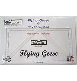 Bloc Loc Flying Geese Square Up Ruler - 3 x 6 inch