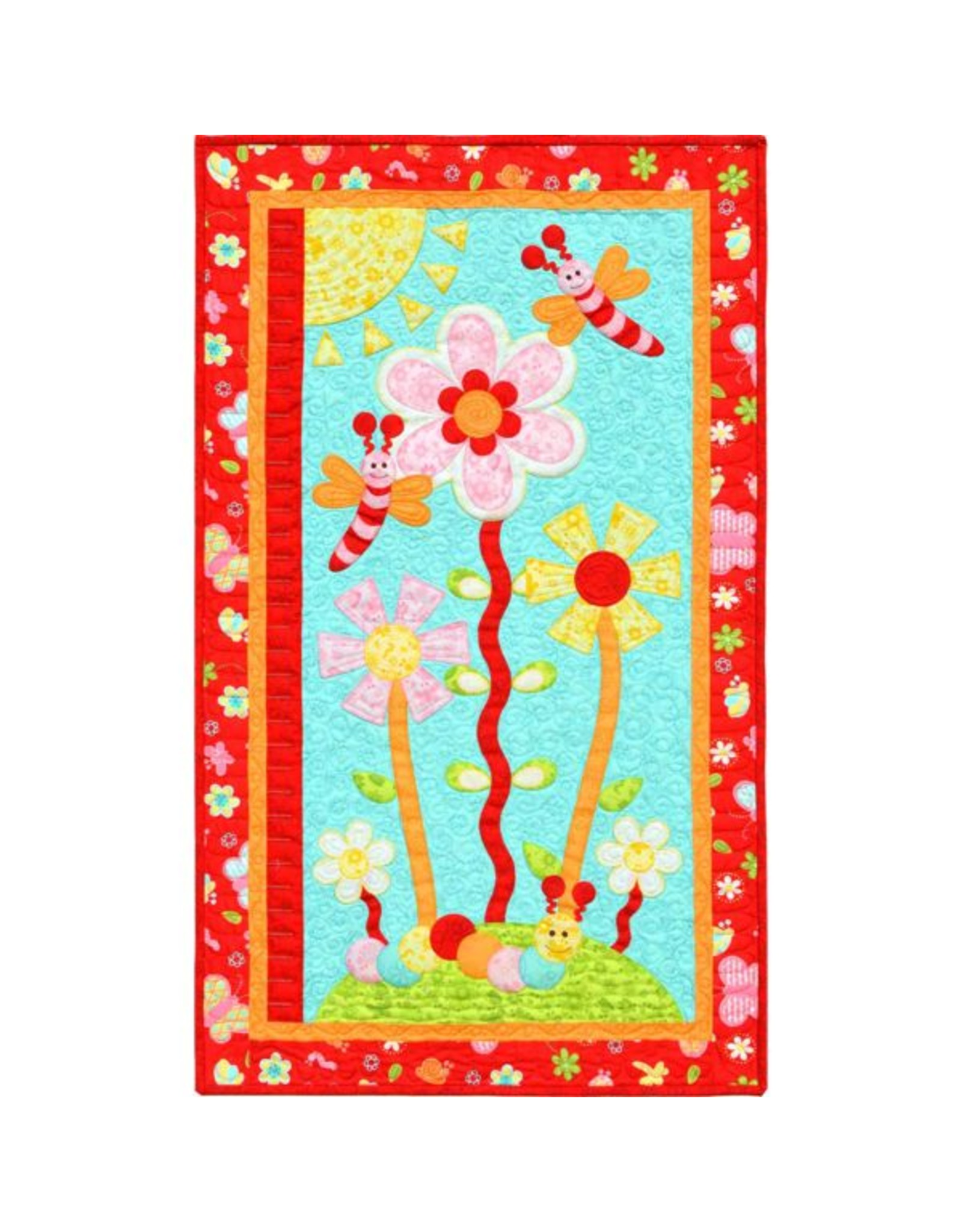 Kids Quilts Budding Blooms - applique patroon voor wandquiltje