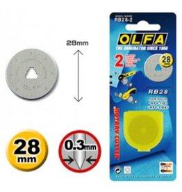 Olfa Olfa reservemes 28 mm - 2 stuks