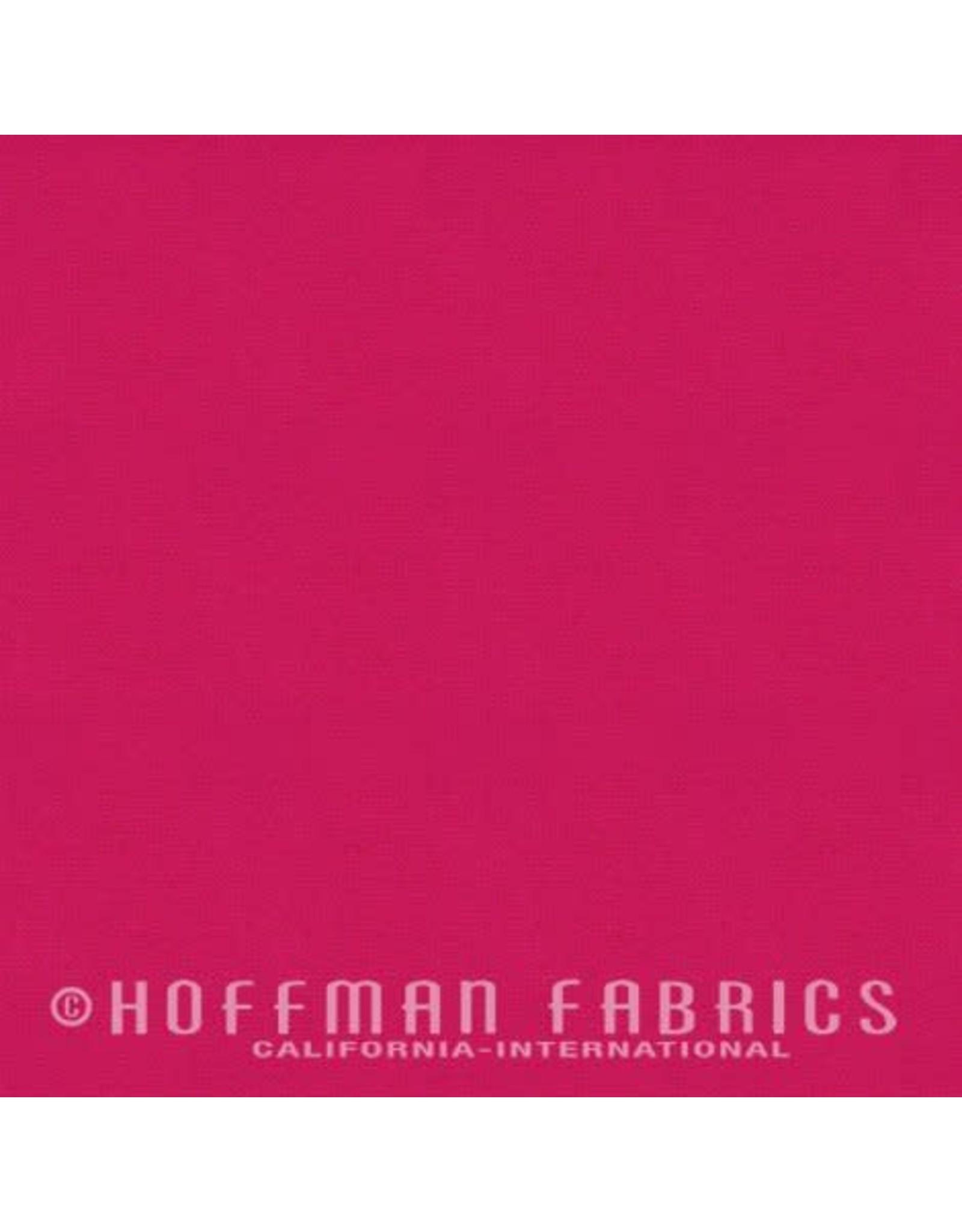 Me+You by Hoffman Fabrics Indah Solids - Geranium