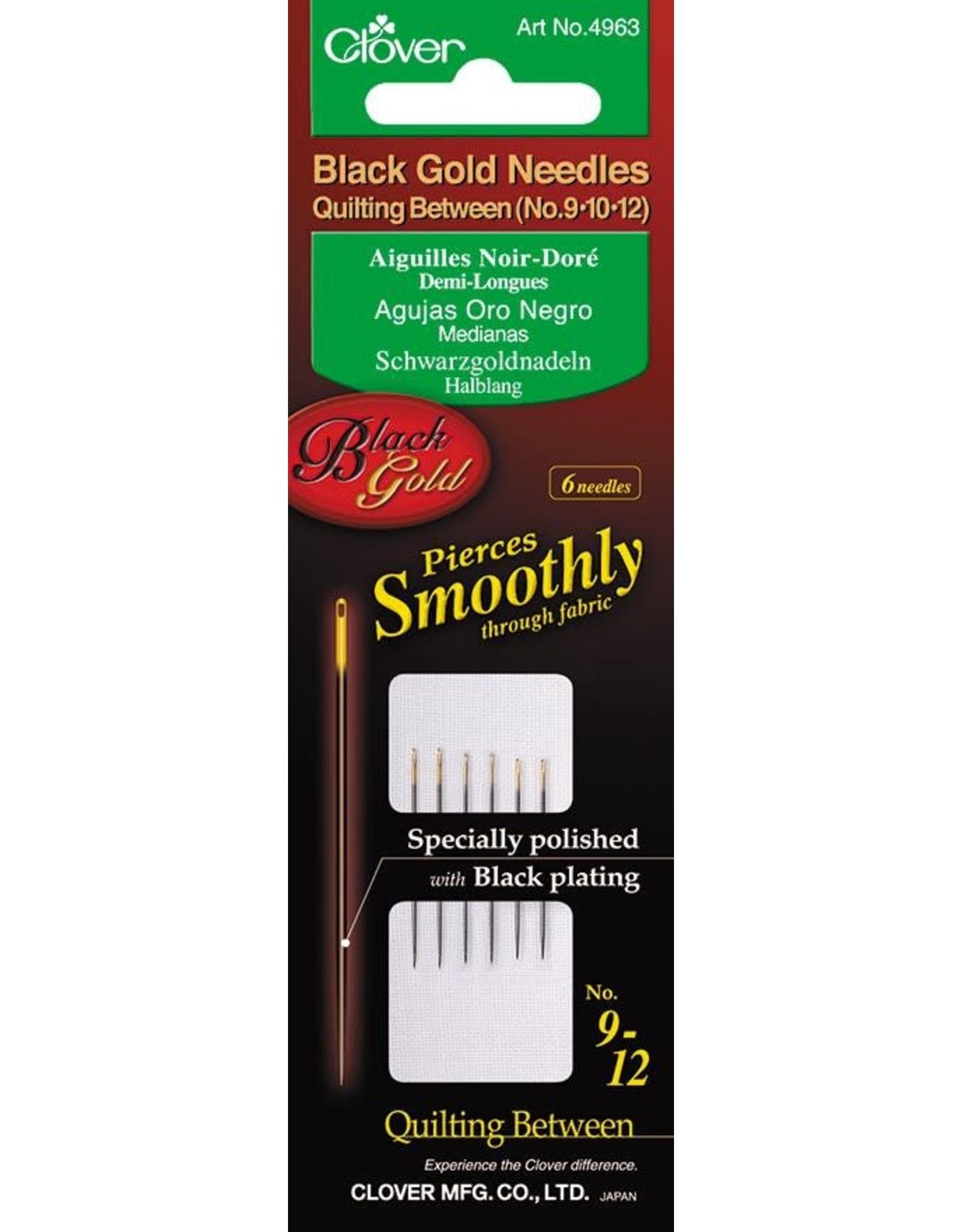 Clover Black Gold Needles - Quilting Between ass.