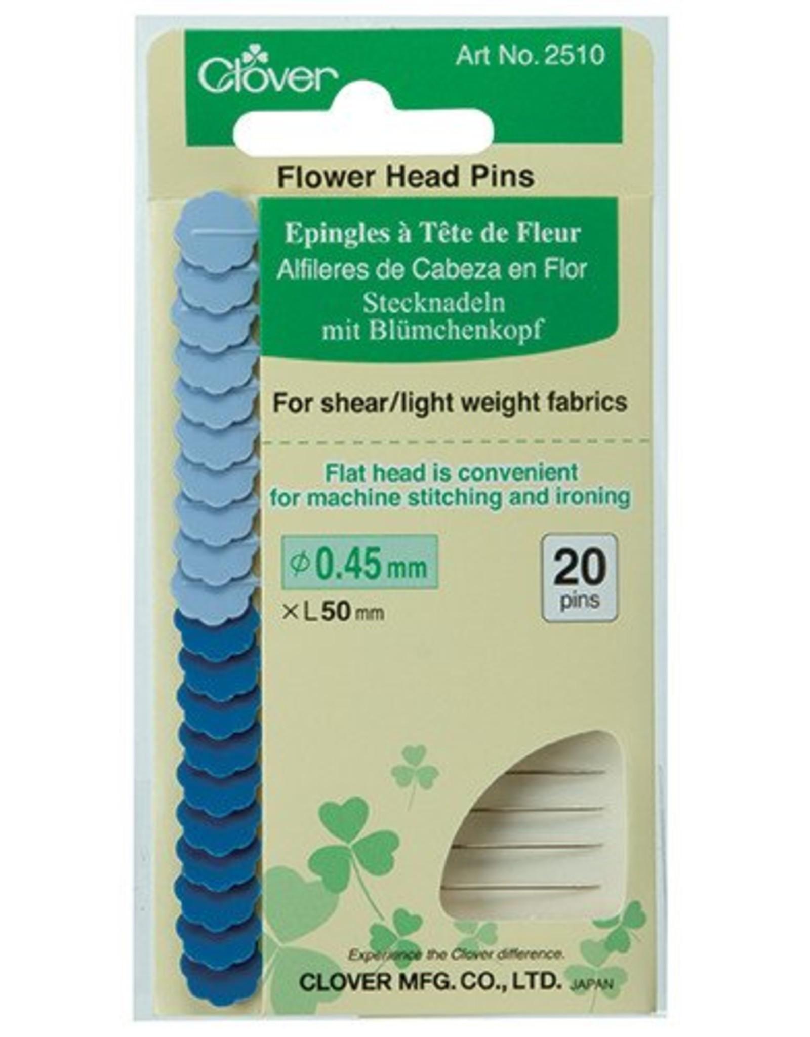 Clover Flower Head Pins - Fine