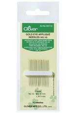 Clover Gold Eye Applique Needles no. 10