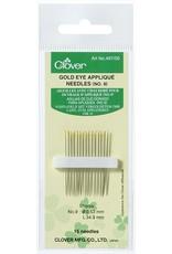 Clover Gold Eye Applique Needles no. 9