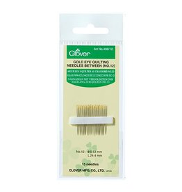Clover Gold Eye Quilting Needles no. 12