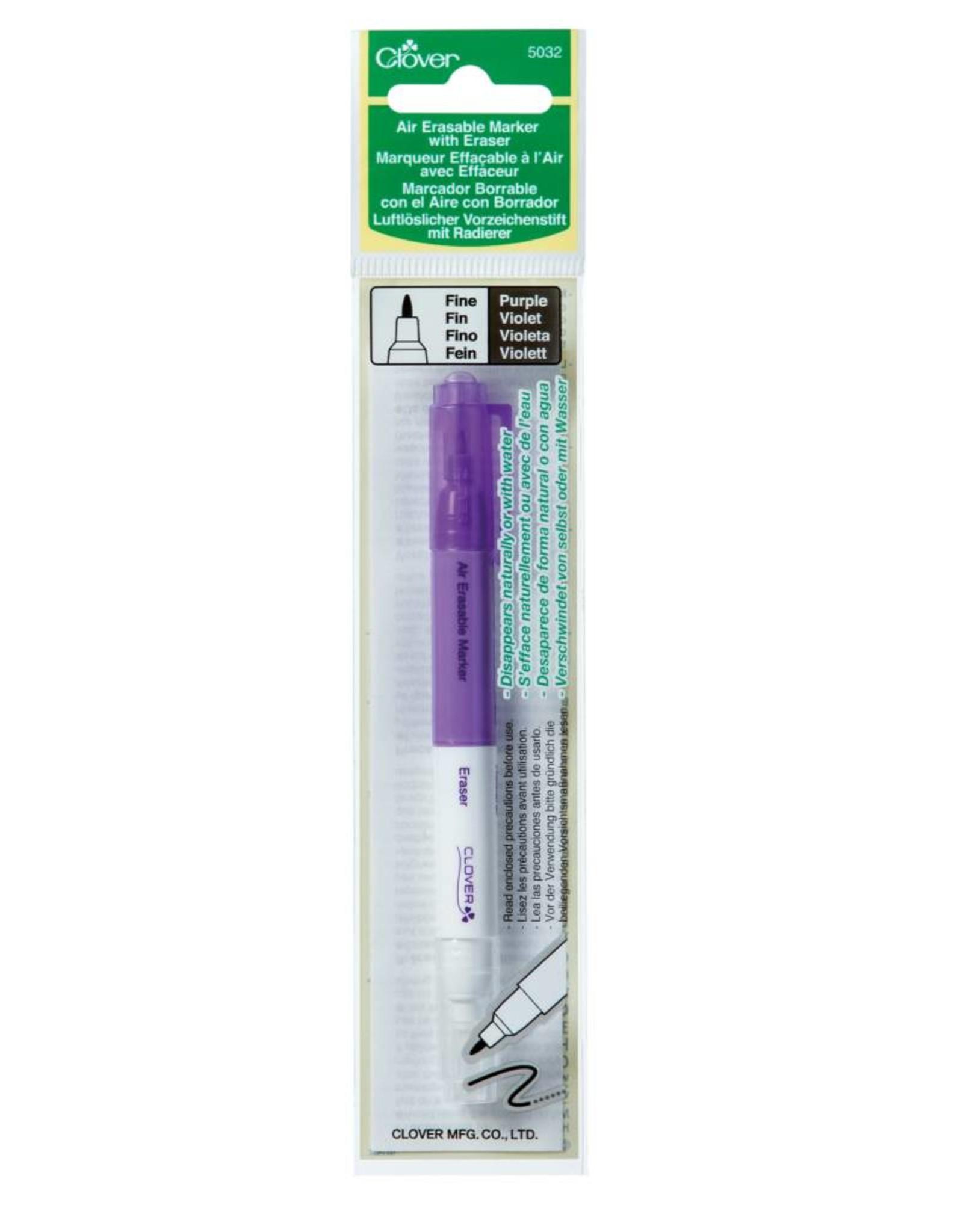 Clover Air Erasable Marker with Eraser - Paars (4-14 dagen)