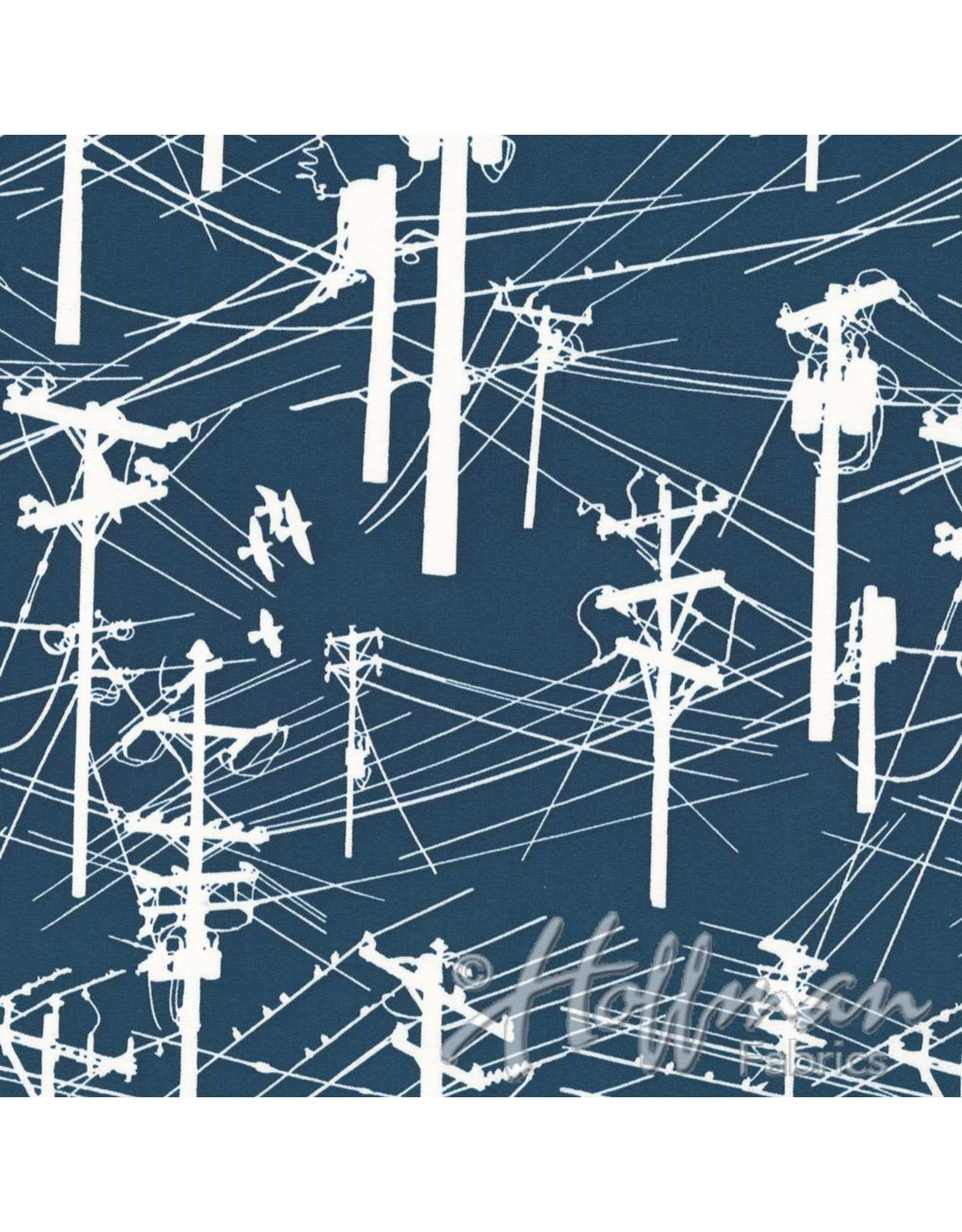 Me+You by Hoffman Fabrics Grafic - Power Lines Navy