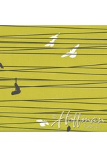 Me+You by Hoffman Fabrics Grafic - Birds on a Wire Sulfur