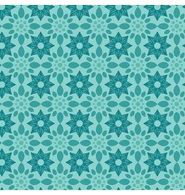 Contempo Gloaming - Flora Turquoise