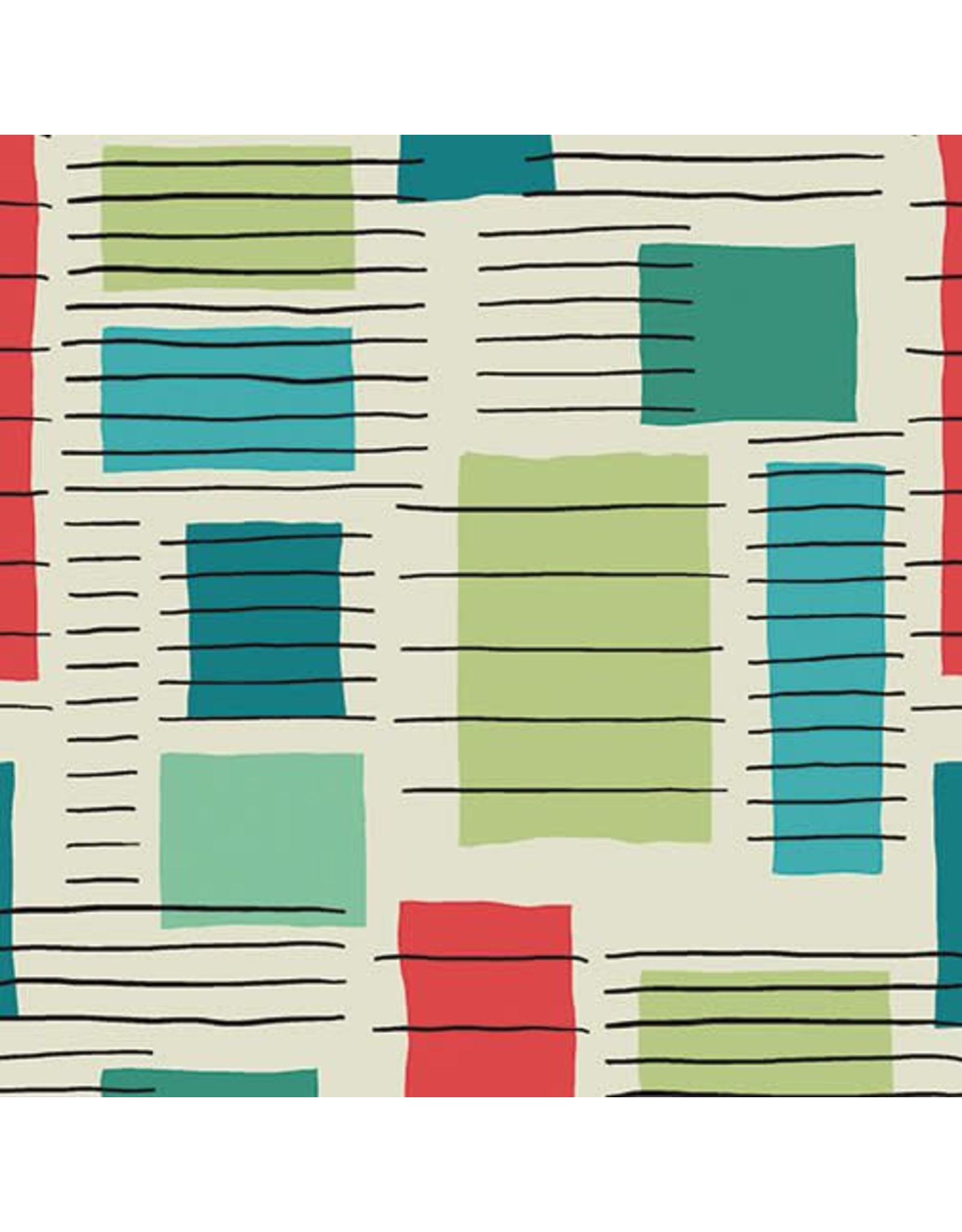 Contempo Printology - Blocks Grey