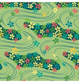Contempo Printology - Waves Green
