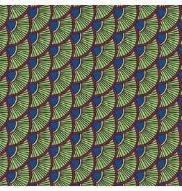 Contempo Printology - Scallops Green