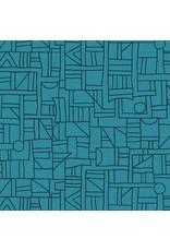 Contempo Printology - Sketch Teal