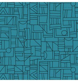 Contempo Printology - Sketch Teal