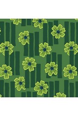 Contempo Printology - Flowers Green