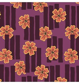 Contempo Printology - Flowers Purple
