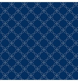 Maywood Studio Lattice - Dark Blue