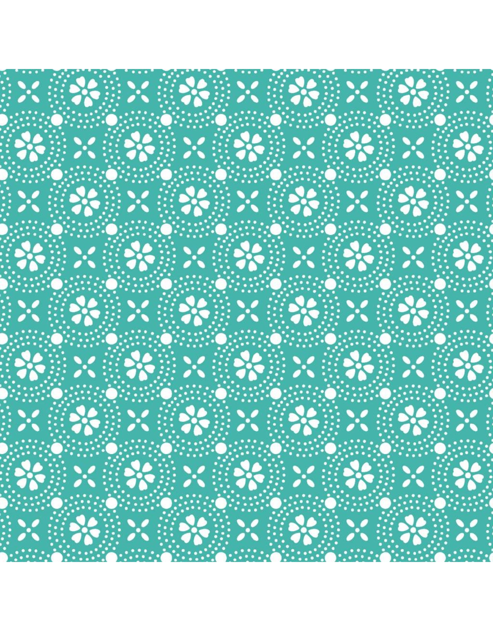 Maywood Studio Dotted Circles - Teal
