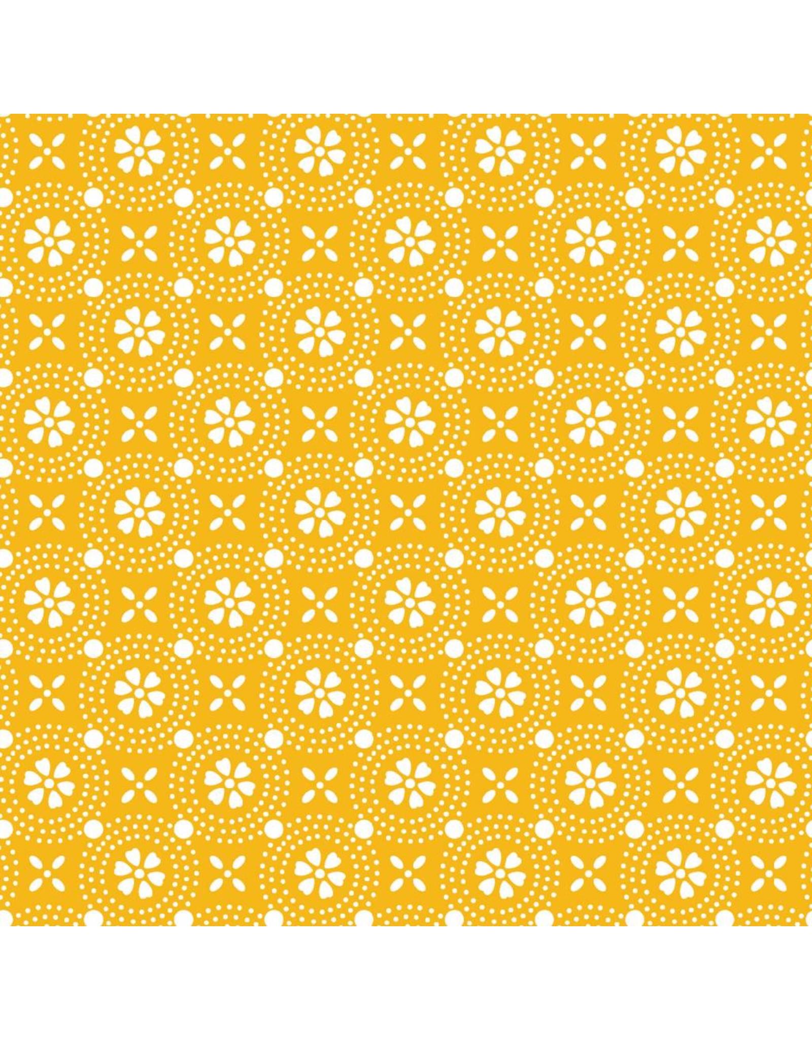 Maywood Studio Dotted Circles - Yellow
