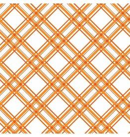 Maywood Studio Diagonal Plaid - Orange