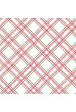 Maywood Studio Diagonal Plaid - Pink