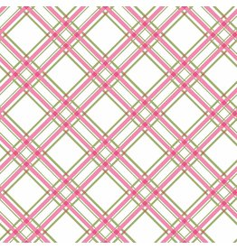 Maywood Studio Diagonal Plaid - Pink