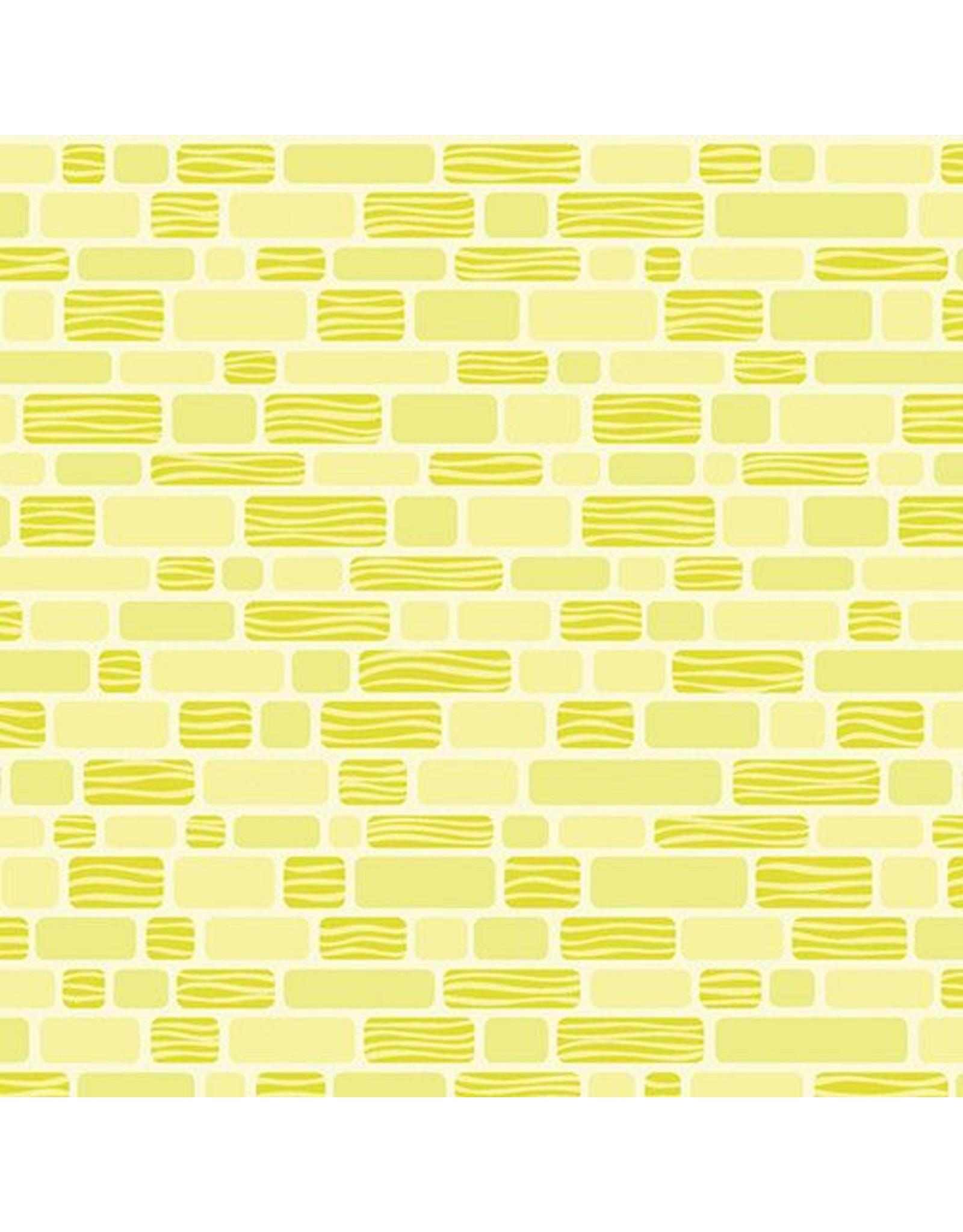 Contempo Free Motion Fantasy - Bricks Lime