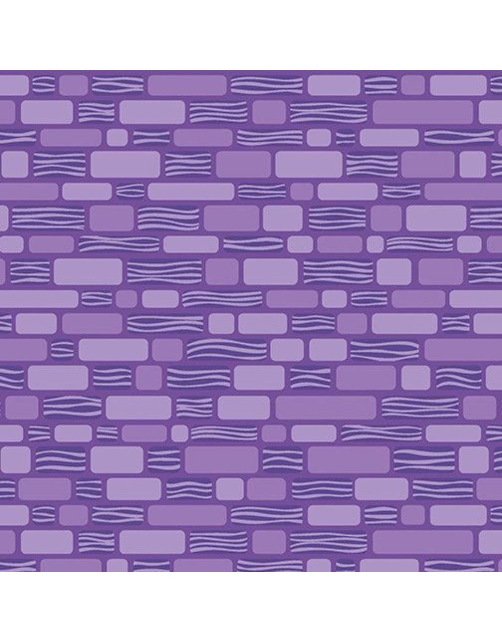 Contempo Free Motion Fantasy - Bricks Purple