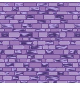 Contempo Free Motion Fantasy - Bricks Purple