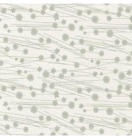Contempo Wild Flower - Gray on White