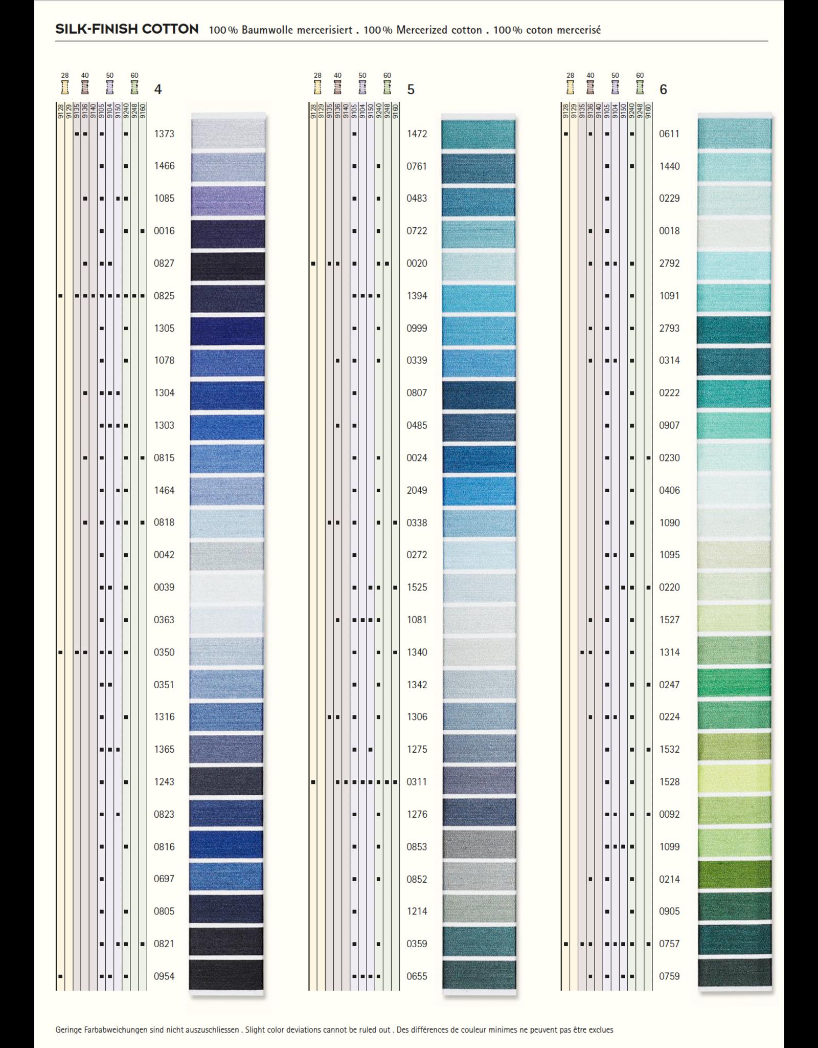 Mettler Kleurkaart 2 - Silk Finish Cotton 50 - 150 meter
