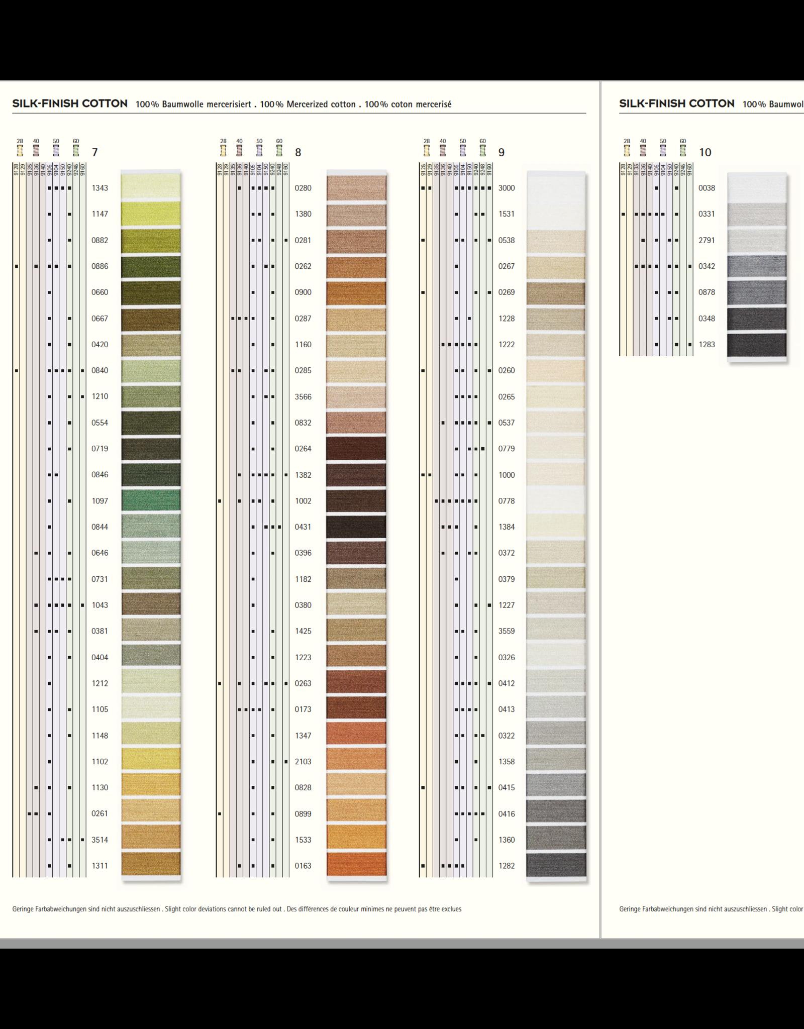 Mettler Kleurkaart 3 - Silk Finish Cotton 50 - 150 meter