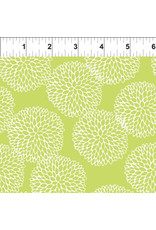 In the Beginning Doodle Blossoms - Chrysanthemums Lime