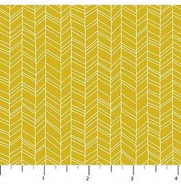 Figo Mountain Meadow - Chevron Mustard