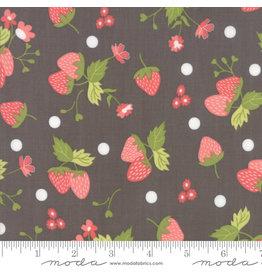 Moda Strawberry Jam - Floral Strawberry Polka Dot Grey