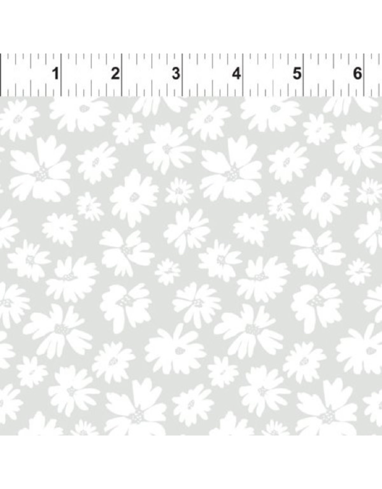 In the Beginning Doodle Blossoms - Wild Flowers Light Gray
