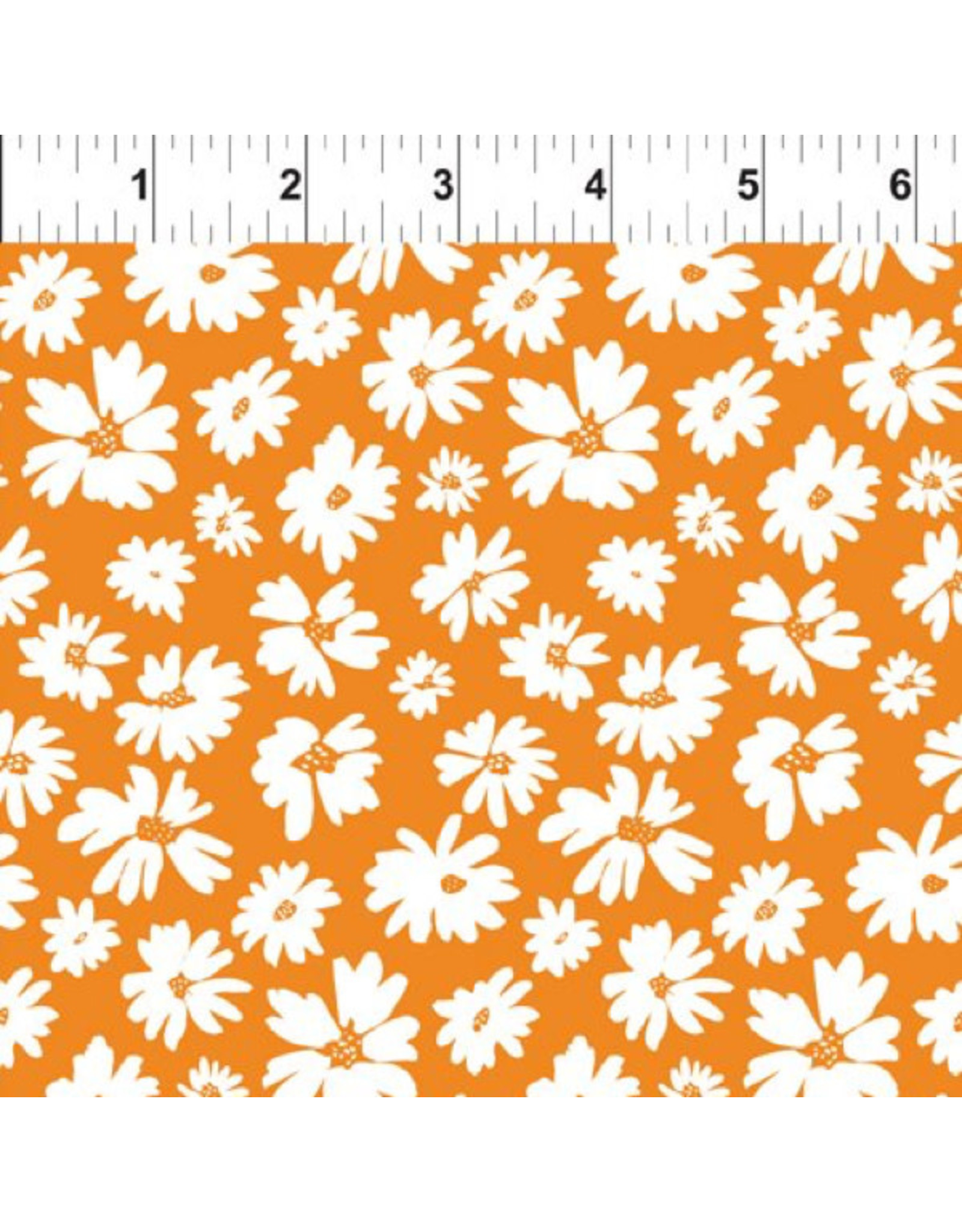 In the Beginning Doodle Blossoms - Wild Flowers Orange