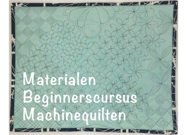 Beginnerscursus Machinequilten