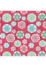 Contempo Hearty the Snowman - Circle Flake Red
