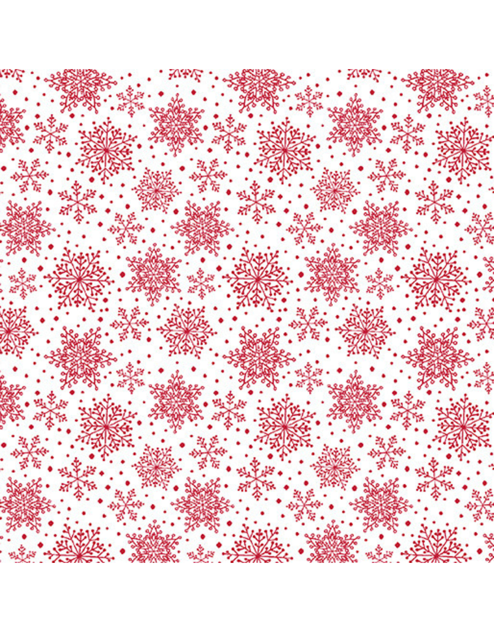 Contempo Hearty the Snowman - Snow Flakes White/Red