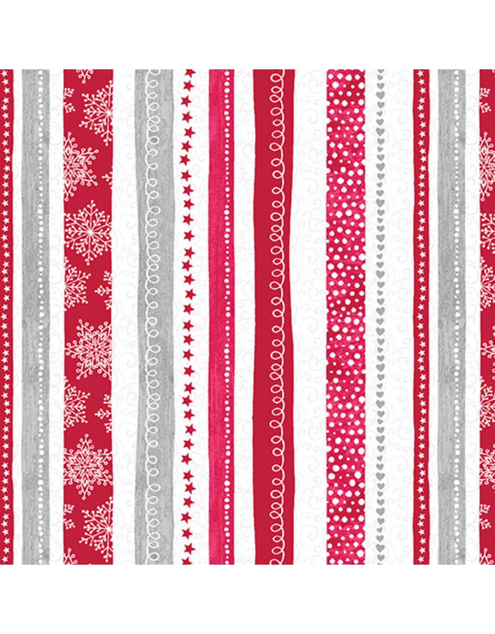 Contempo Hearty the Snowman - Swirl Stripe Red