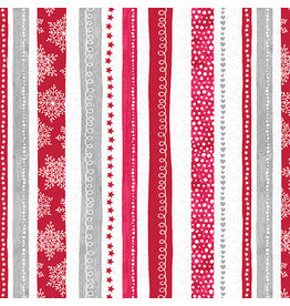 Contempo Hearty the Snowman - Swirl Stripe Red