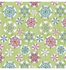 Contempo Hearty the Snowman - Circle Flake Green