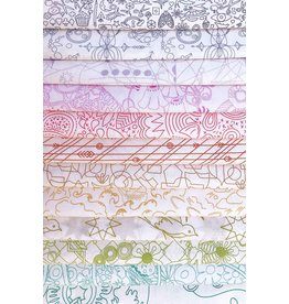 Andover Sun Print Light - Fat Quarter pakket