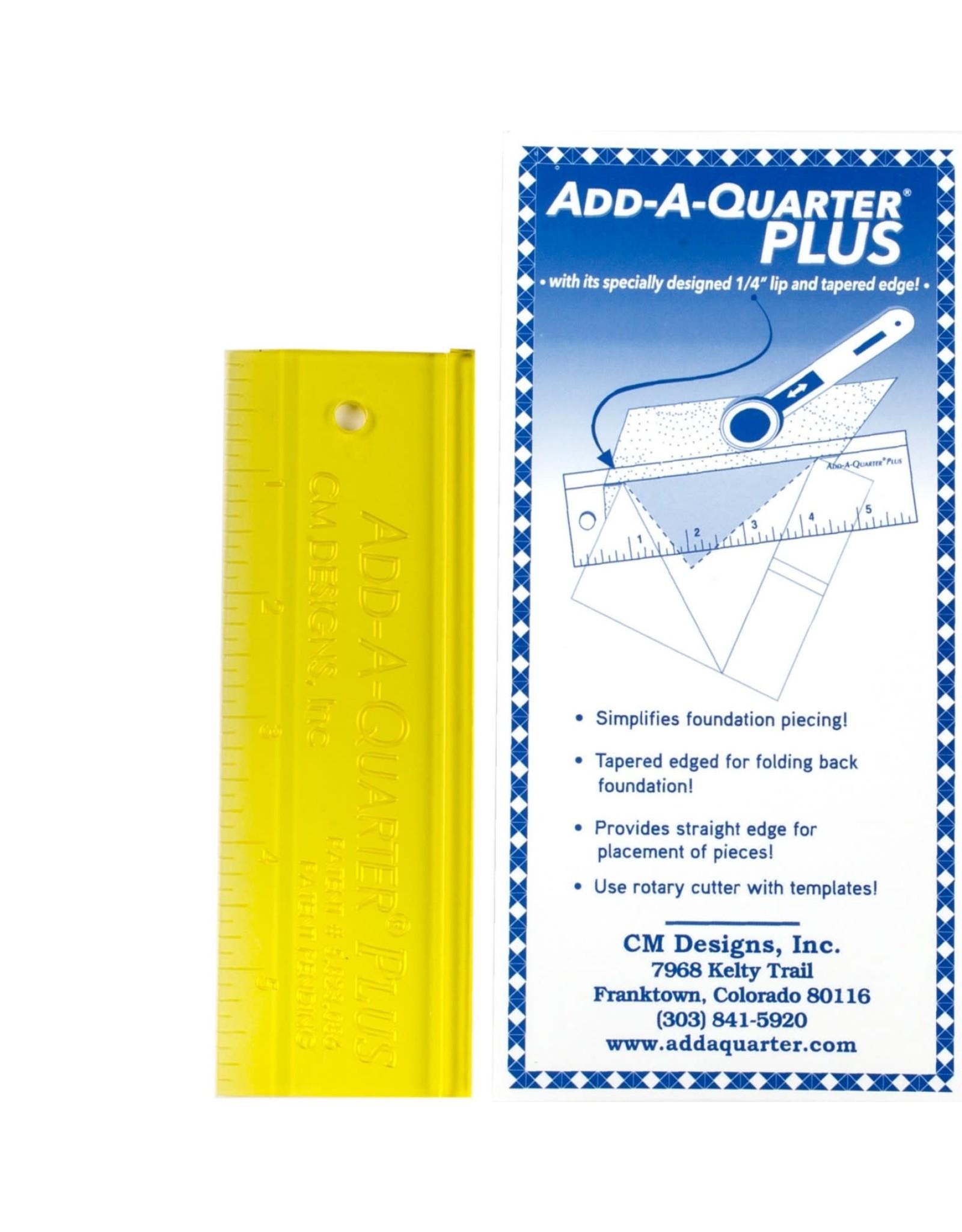 CM Designs Add A Quarter Ruler Plus - 6 inch