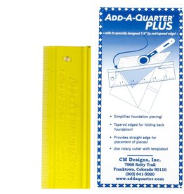 CM Designs Add A Quarter Ruler Plus - 6 inch