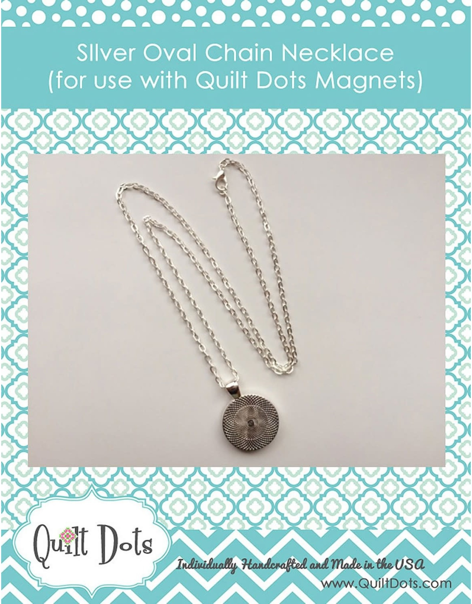 Quilt Dots - ketting + houder 60 cm
