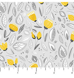 Northcott Sew Sweet - Flower Shower Gray Yellow