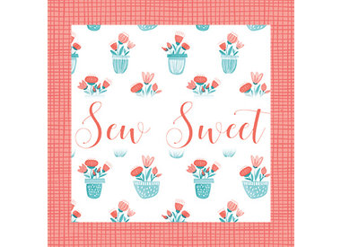 Sew Sweet - Turquoise & Coral