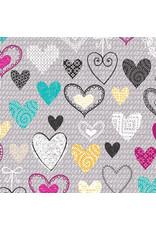 Kanvas Studio Knit Together - Hearts Gray